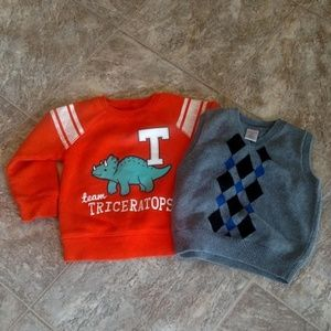 Bundle 2T Sweatshirt & Sweater Vest Toddler Boy